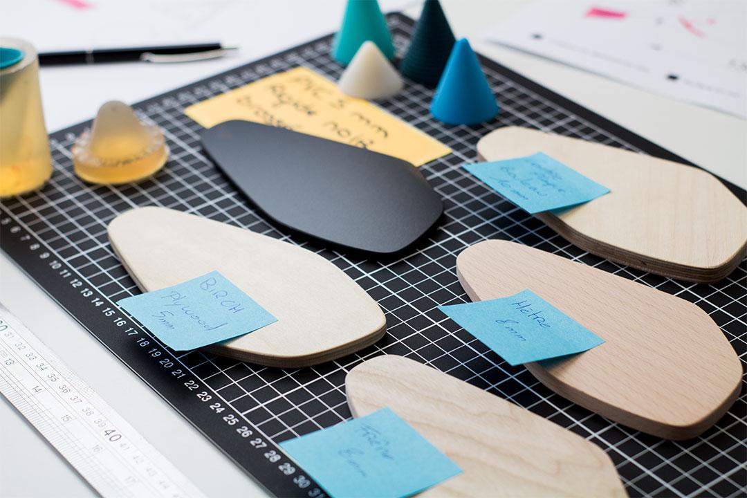 Étude de différents matériaux pendant l'étape de R&D pour les planchettes Piks